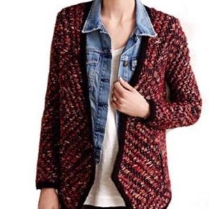 Anthropologie heavy wool thick knit open cardigan